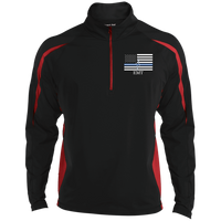 Men's Thin White Line EMT Embroidered Performance Pullover Jackets Black/True Red X-Small