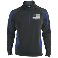 Men's Thin White Line EMT Embroidered Performance Pullover Jackets Charcoal Grey/True Royal X-Small
