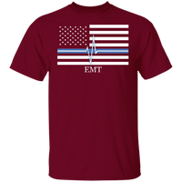 Men's Thin White Line EMT T-Shirt T-Shirts Garnet S