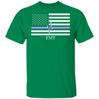 Men's Thin White Line EMT T-Shirt T-Shirts Turf Green S