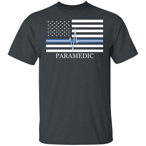 Men's Thin White Line Paramedic T-Shirt T-Shirts Dark Heather S