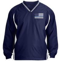 Men's Thin White Line Pullover Windshirt Jackets True Navy/White X-Small