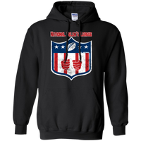 National Felon's League Hoodie Sweatshirts CustomCat Black Small