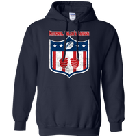 National Felon's League Hoodie Sweatshirts CustomCat Navy Small