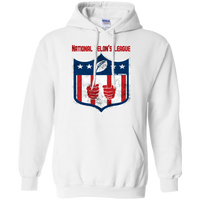 National Felon's League Hoodie Sweatshirts CustomCat White Small