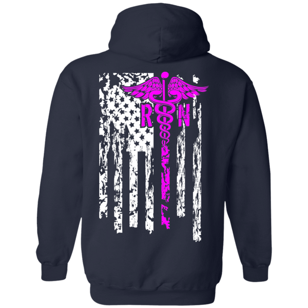 Women's Double Sided Nurse Flag Hoodie