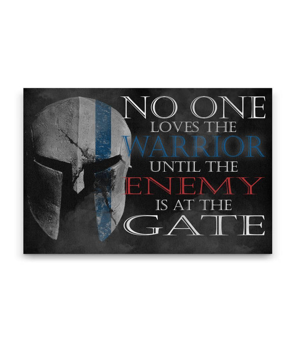 No One Loves The Warrior Canvas Decor ViralStyle Premium OS Canvas - Landscape 18x12*