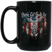 Nurses Got Your Six Coffee Mug Drinkware Black One Size