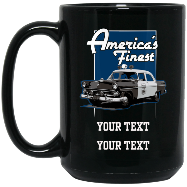 Personalized America's Finest Mug Drinkware Black One Size