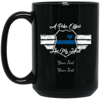 Personalized An Officer Has My Heart Mug Drinkware Black One Size