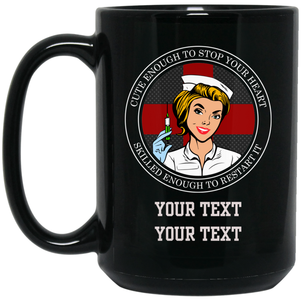 Personalized Cross Your Heart Nurse Mug Drinkware Black One Size