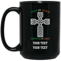 Personalized Defend The Line Celtic Firefighter Cross Mug Drinkware Black One Size