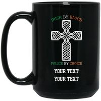 Personalized Defend The Line Celtic Police Cross Mug Drinkware Black One Size