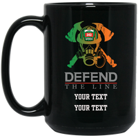 Personalized Defend The Line irish Firefighter Mask Mug Drinkware Black One Size