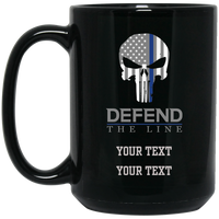 Personalized Defend The Line Punisher Mask Mug Drinkware Black One Size