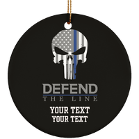 Personalized Defend The Line Punisher Ornament Housewares Black One Size