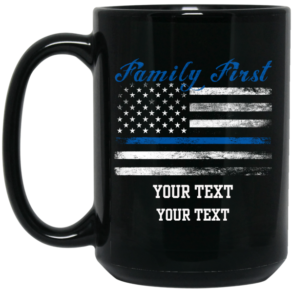 Personalized Family First Mug Drinkware Black One Size