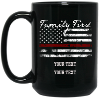 Personalized Fire Family First Mug Drinkware Black One Size