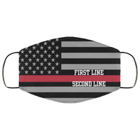 Personalized Firefighter Thin Red Line Flag Lightweight Face Cover Accessories White One Size