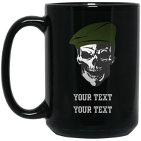 Personalized Military Skull Mug Drinkware Black One Size