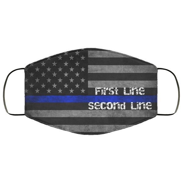 Personalized Police Tattered Thin Blue Line Flag Lightweight Face Cover Accessories White One Size