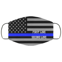 Personalized Police Thin Blue Line Flag Lightweight Face Cover Accessories White One Size