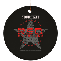 Personalized Remember Everyone Deployed Ornament Housewares Black One Size