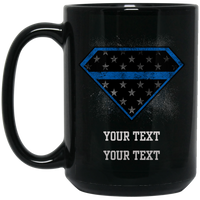 Personalized Super Police Mug Drinkware Black One Size