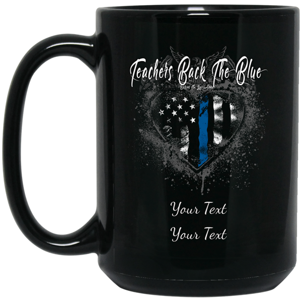 Personalized Teachers Back The Blue Mug Drinkware Black One Size