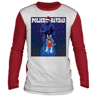 Police Navidad Christmas Sweater Long Sleeve T-Shirts White/Red S