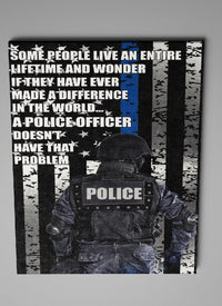 Police Officer Thin Blue Line Canvas Decor ViralStyle