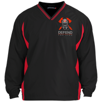 proto Defend The Line Skull Mask Pullover Jackets Black/True Red X-Small