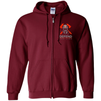 proto Defend The Line Skull Mask Zip Up Sweatshirt Sweatshirts Maroon S
