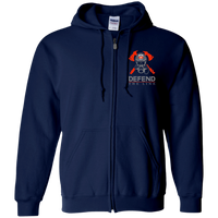 proto Defend The Line Skull Mask Zip Up Sweatshirt Sweatshirts Navy S