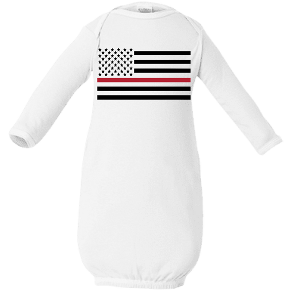 Proto Thin Red Line Infant Layette T-Shirts White One Size