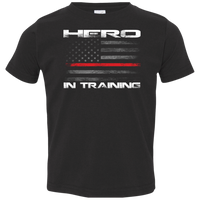 Proto Toddler Hero In Training Thin Red Line T-Shirt T-Shirts Black 2T