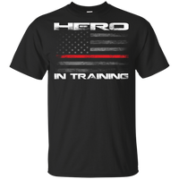 Proto Youth Hero In Training Thin Red Line T-Shirt T-Shirts Black YXS