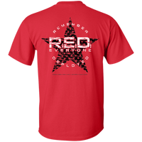 RED Remember Everyone Deployed Double-Sided T-Shirt T-Shirts CustomCat Red S
