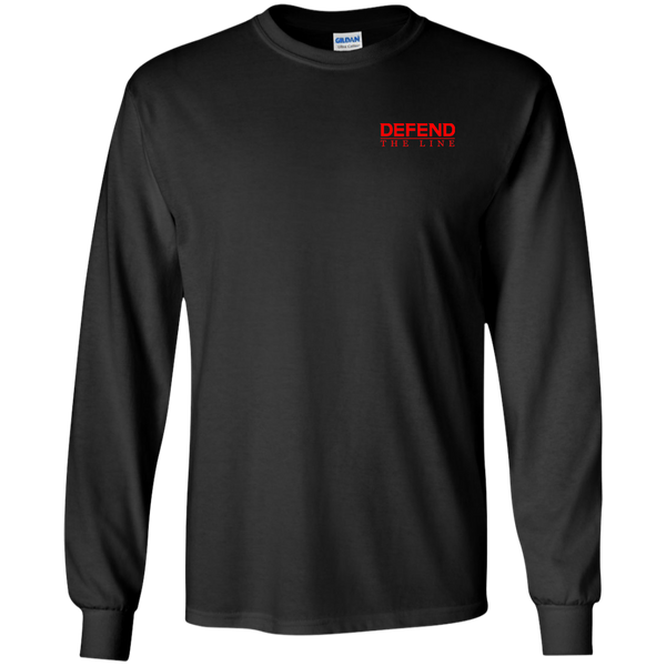 RED Remember Everyone Deployed Long-Sleeve T-Shirt T-Shirts CustomCat Black S