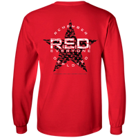 RED Remember Everyone Deployed Long-Sleeve T-Shirt T-Shirts CustomCat Red S
