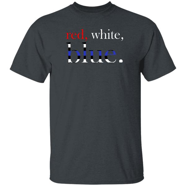 Red, White and Blue T-Shirt T-Shirts Dark Heather S