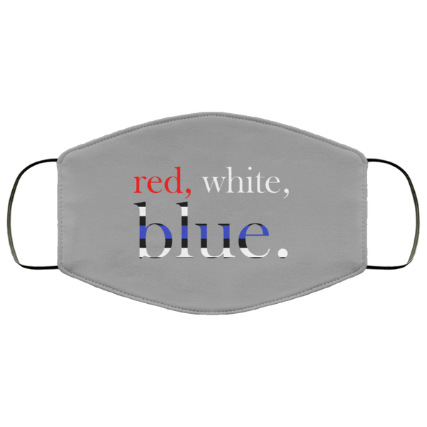 Red, White & Blue Face Cover Accessories Gray One Size