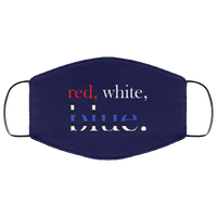 Red, White & Blue Face Cover Accessories Navy One Size