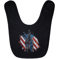 Red White Blue Spartan Baby Bib Accessories Black One Size