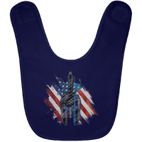 Red White Blue Spartan Baby Bib Accessories Navy One Size