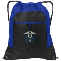 RN Embroidered Cinch Pack Bags Black/Hyper Blue One Size