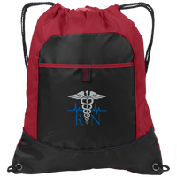 RN Embroidered Cinch Pack Bags Black/True Red One Size