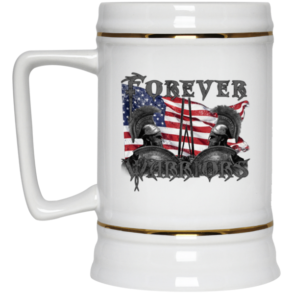 RWB Forever Warriors Beer Stein Drinkware White One Size