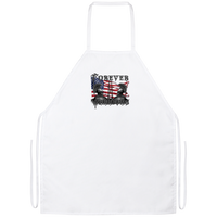 RWB Forever Warriors Grilling Apron Work Apparel White One Size