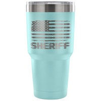 Sheriff Tumbler Tumblers teelaunch 30 Ounce Vacuum Tumbler - Light Blue